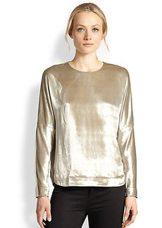 J Brand Romy Metallic Velvet Top