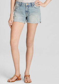 J Brand Shorts - Joanie Low Rise Boy Fit in Clash