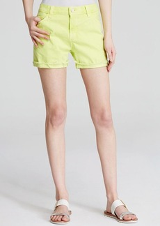 J Brand Shorts - Joanie Relaxed in Lime Sherbet