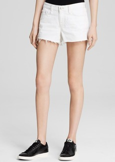 J Brand Shorts - Twill Cutoff in White Light