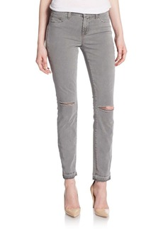 J BRAND Skinny Distressed Ankle Jeans