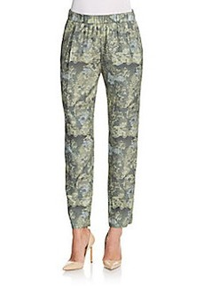 J Brand Starkey Digital Camo-Print Wool & Silk Pants
