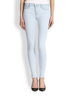 J Brand Stepped-Hem Skinny Jeans