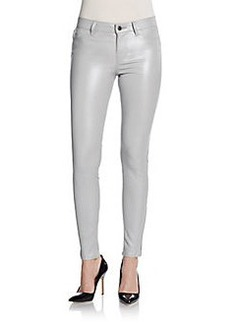 J Brand Stretch-Leather Skinny Pants