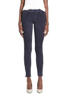 J Brand Stretch Nubuck Super Skinny Pants