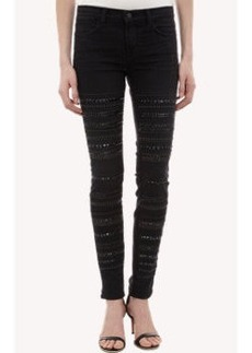 J Brand Studded Genevieve Skinny Jeans