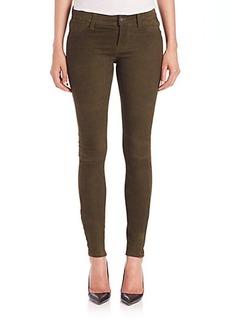 J Brand Suede Skinny Jeans