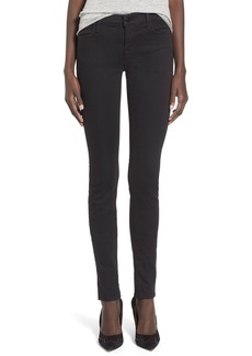 J Brand High Rise Super Skinny Jeans (Seriously Black)