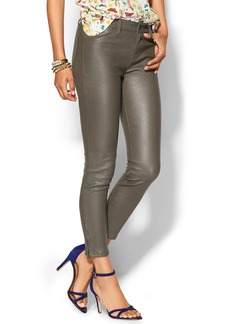 J Brand Super Skinny Leather Jeans W/ Ankle Zip