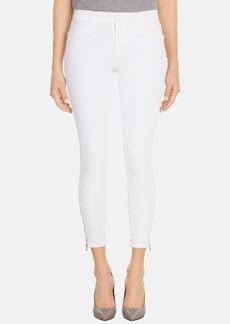 J Brand 'Tali' Zip Detail Crop Jeans (Blanc)