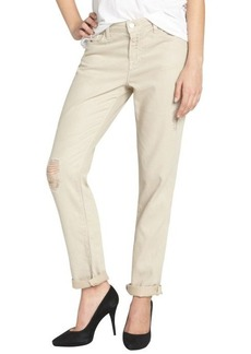 J Brand tan cotton-tencel blend deconstructed boyfriend jeans
