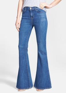 J Brand 'Valentina' Mid Rise Flared Jeans (Sail)