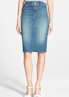 J Brand 'Willa' Denim Pencil Skirt (Ingenue)