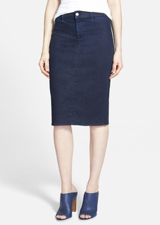J Brand 'Willa' High Rise Pencil Skirt (Inkwell)