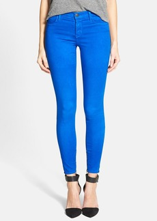 J Brand Zip Hem Crop Jeans (Electric Blue)