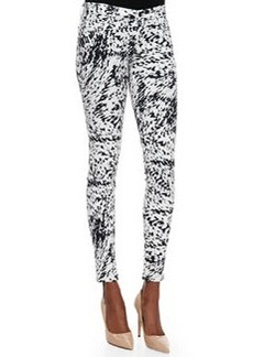 Labyrinth Printed Skinny-Fit Jeans   Labyrinth Printed Skinny-Fit Jeans