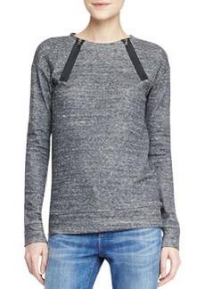 Laura Zip-Neck Fleece Sweatshirt   Laura Zip-Neck Fleece Sweatshirt