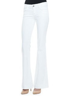 Love Story Flared Jeans, Blanc   Love Story Flared Jeans, Blanc