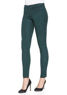 Maria High-Rise Sateen Skinny Jeans, Forest   Maria High-Rise Sateen Skinny Jeans, Forest