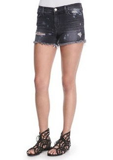 Mia Vagabond Distressed Denim Shorts   Mia Vagabond Distressed Denim Shorts