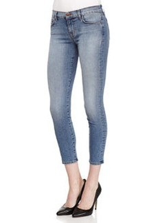 Mid-Rise Cropped Denim Jeans, Dynamic   Mid-Rise Cropped Denim Jeans, Dynamic