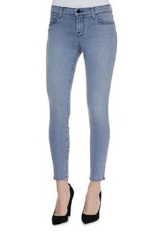 Mid Rise Cropped Denim Jeans   Mid Rise Cropped Denim Jeans
