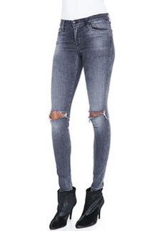 Mid-Rise Distressed Skinny Jeans, Nemesis   Mid-Rise Distressed Skinny Jeans, Nemesis
