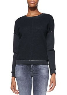 Montana Raw-Edge Contrast Top   Montana Raw-Edge Contrast Top