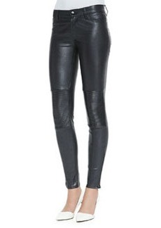 Nicola Zipper-Cuff Leather Moto Pants   Nicola Zipper-Cuff Leather Moto Pants