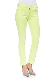 Rail Mid-Rise Cropped Skinny Jeans, Lime Sherbet   Rail Mid-Rise Cropped Skinny Jeans, Lime Sherbet
