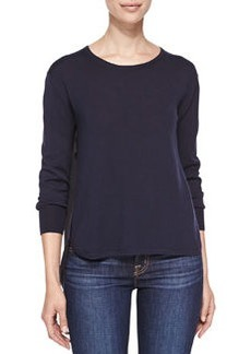 Selita Crewneck Sweater with Contrast Back   Selita Crewneck Sweater with Contrast Back