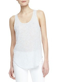 Shore Faded-Stripe Slub Tank   Shore Faded-Stripe Slub Tank