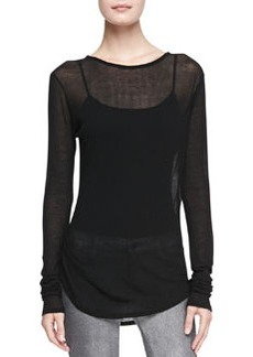 Sophia Sheer Long-Sleeve Tee   Sophia Sheer Long-Sleeve Tee