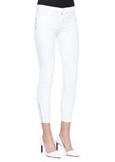 Tali Zipper-Cuff Skinny Jeans   Tali Zipper-Cuff Skinny Jeans