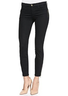 Tali Zipper-Cuff Skinny Jeans, Vanity   Tali Zipper-Cuff Skinny Jeans, Vanity