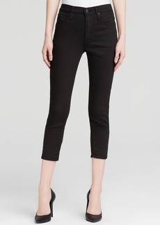 James Jeans - Twiggy High Class Skinny Cropped in Flat Black