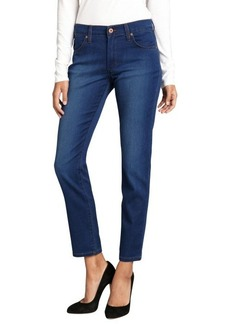 James Jeans azure super-soft stretch cotton blended denim 'Riley' skinny ankle jeans