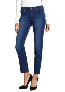 James Jeans azure super-soft stretch cotton blended denim 'Riley' skinny ankle jeans