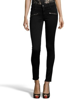 James Jeans B&B denim 'James Twiggy' flip side zip skinny jeans
