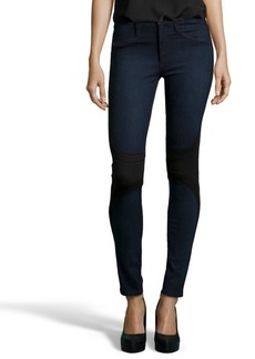 James Jeans black and blue colorblock stretch denim 'McEvoy' skinny jeans