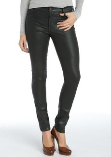 James Jeans black emerald stretch cotton coated 'James Twiggy' skinny jeans