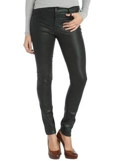 James Jeans black emerald stretch cotton coated 'James Twiggy' skinny jeans