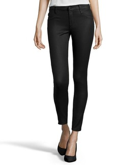 James Jeans black jeather stretch cotton 'James Twiggy' legging skinny jeans