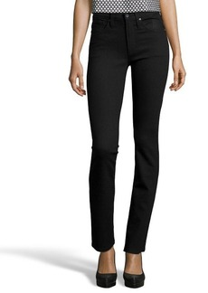 James Jeans black shadow stretch cotton denim 'High Class' straight jeans