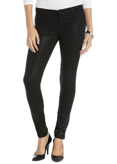James Jeans black stretch cotton coated 'James Twiggy' skinny jeans