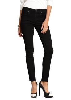 James Jeans black stretch cotton denim 'Riley' skinny ankle jeans