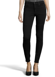 James Jeans black stretch denim 'High Class Moto' skinny ...