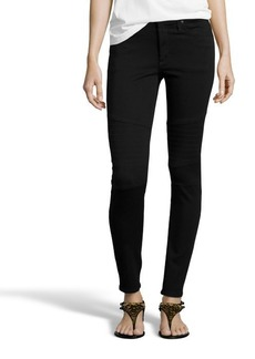 James Jeans black stretch denim 'High Class Moto' skinny jeans
