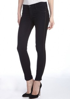 James Jeans black stretch 'Tuxedo' zip side skinny jeans