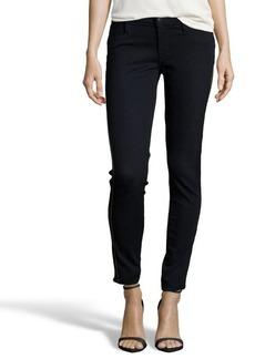 James Jeans black stretch 'Twiggy Tuxedo' zip side skinny jeans